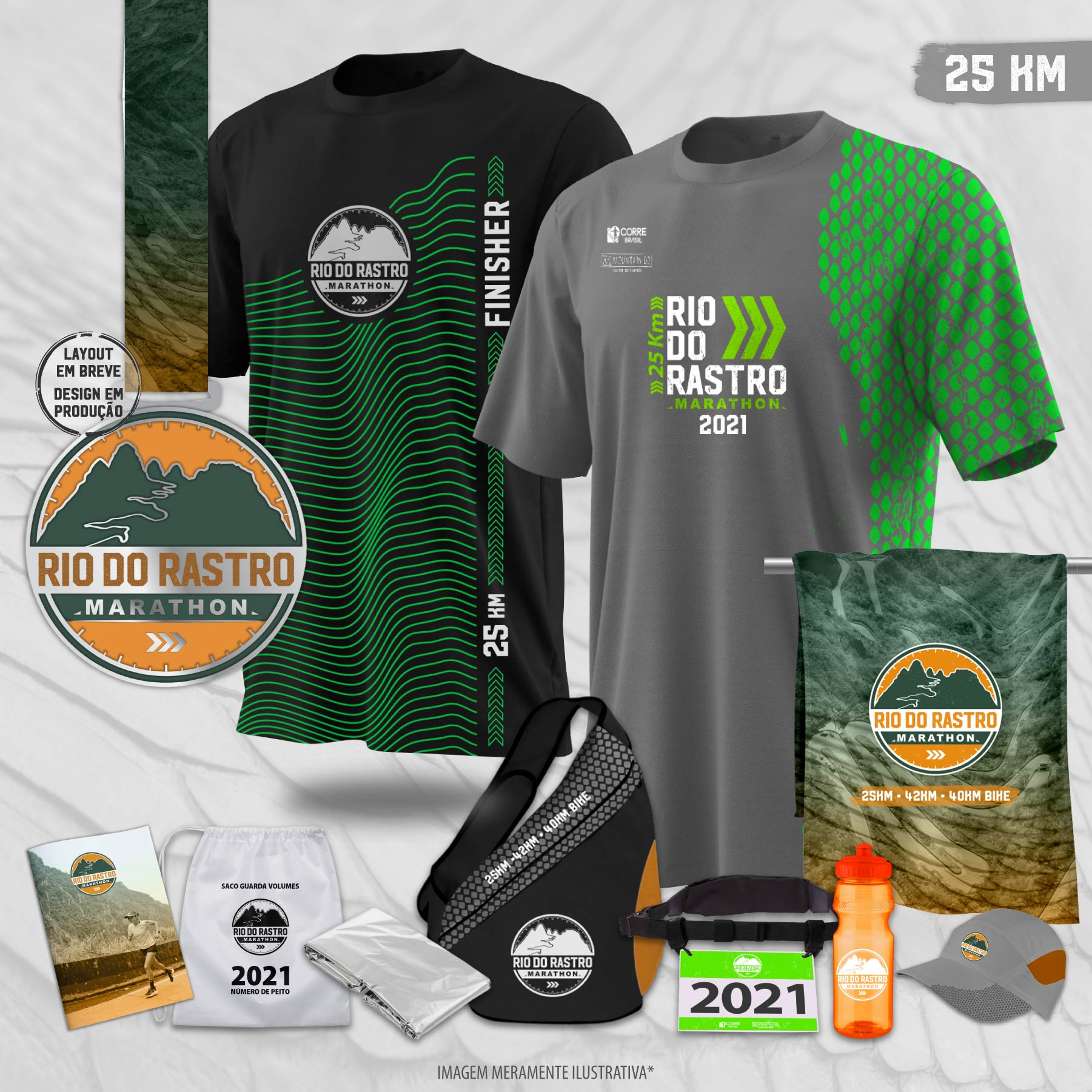 Kit maratona 25km rio do rastro marathon